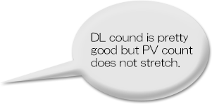 DL cound is pretty good but PV count does not stretch.