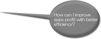 How can I improve apps profit with better efficiency?